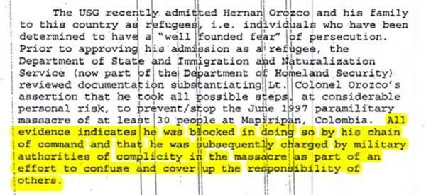 Former paramilitary warlord salvatore mancuso testifies in a closed hearing in 2007