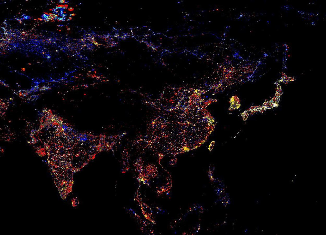 nasa night lights - 800×800