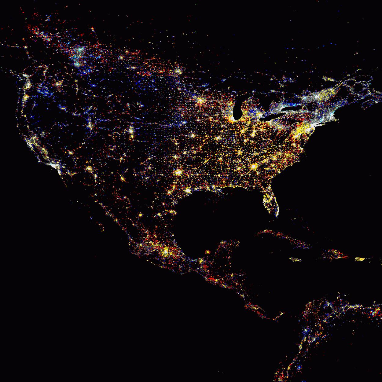 nasa night lights - 670×670