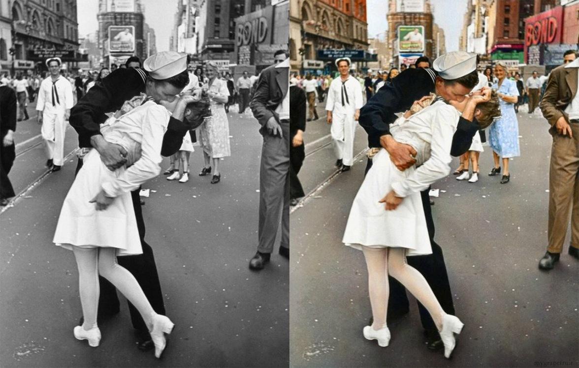 Как сделать фото черно-белым с цветными